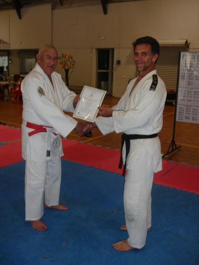 Ray Danes promoted to Nidan