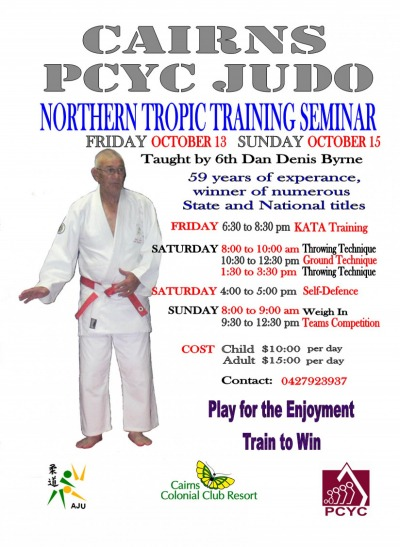 Cairns PCYC Judo Club  Weekend Seminar